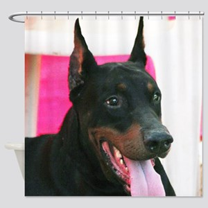 Doberman Pinscher Dog Shower Curtain